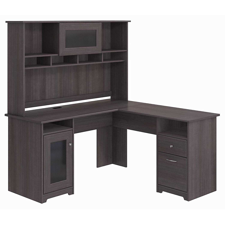 Bush Furniture Cabot L Shaped Desk with Hutch