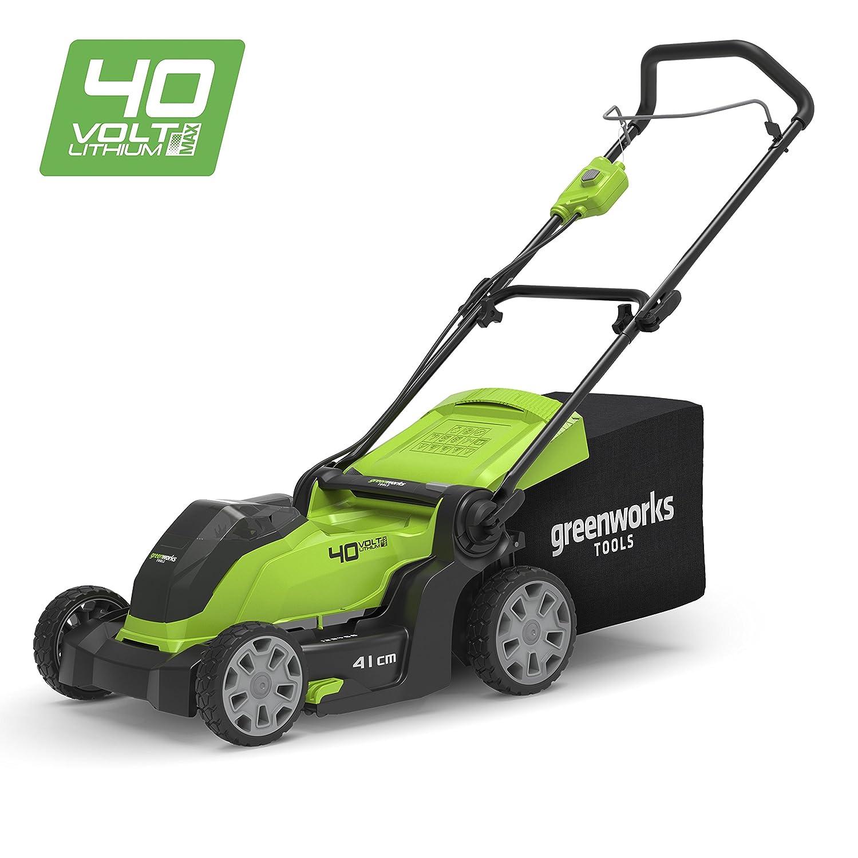 2504707UA Greenworks Tondeuse /à gazon sans fil sur batterie 41cm 40V Lithium-ion avec batterie 2Ah et chargeur