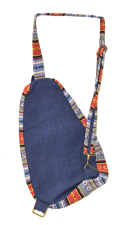 Amazon.com: Mandala Crafts BOHO Hippie Sling Mochila bolso ...