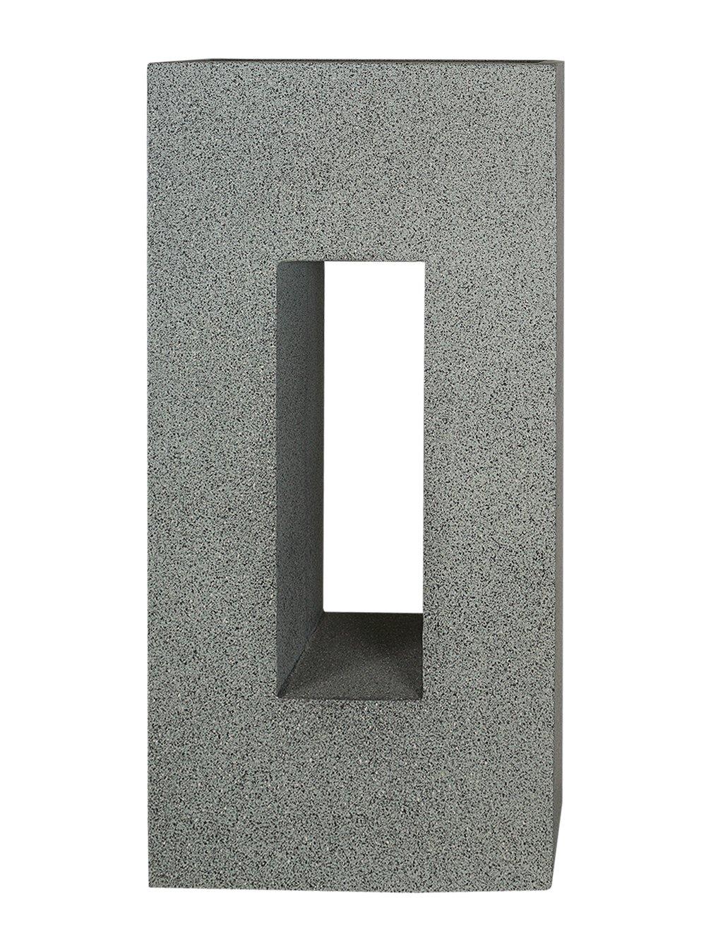 PFLANZWERK® Pflanzkübel Fiberglas VISTA Granit Grau 96x45x27cm XXL *Frostbeständig* *UV-Schutz* *Qualitätsware*
