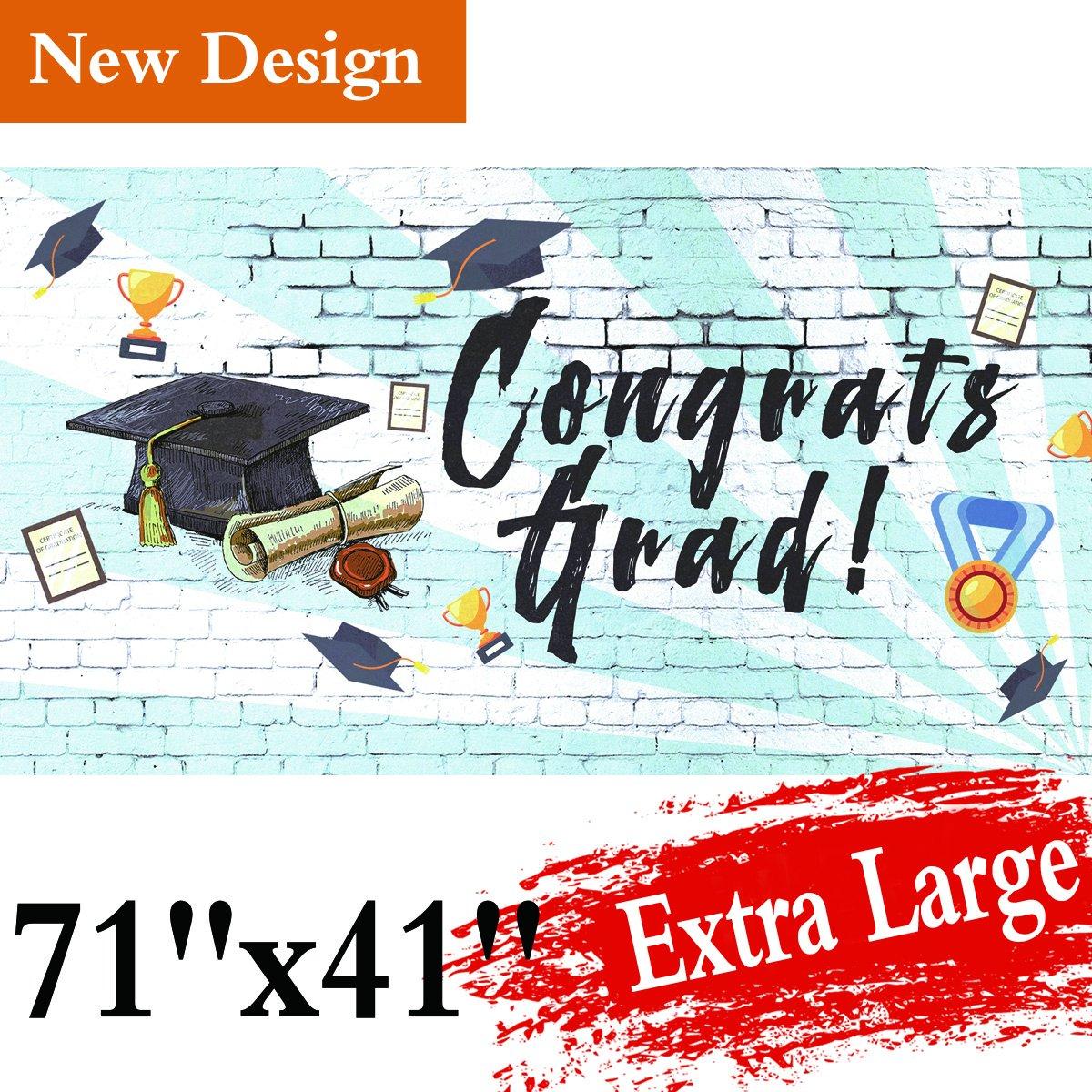 graduation party supplies 2018 banner grad congrats photo backdrop