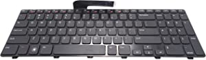 Dosens Laptop Keyboard Replacement for Dell Inspiron 15R N5110 M5110 Series Black US Layout, Compatible Part Numbers 4DFCJ 04DFCJ MP-10K73US-442 MP-10K7 (Note: The Part# May be Different)