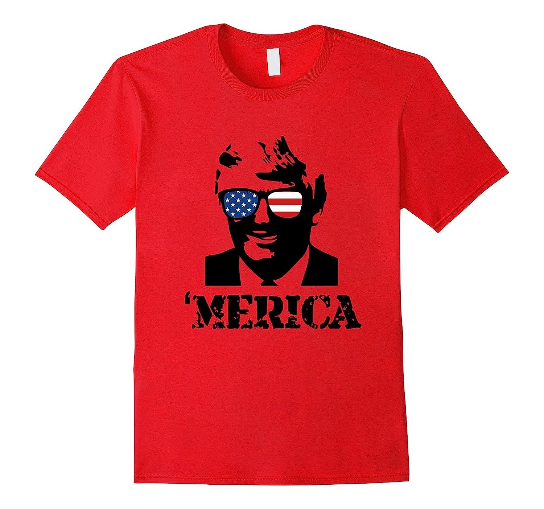 'MERICA July 4th Donald Trump T-Shirt-TH