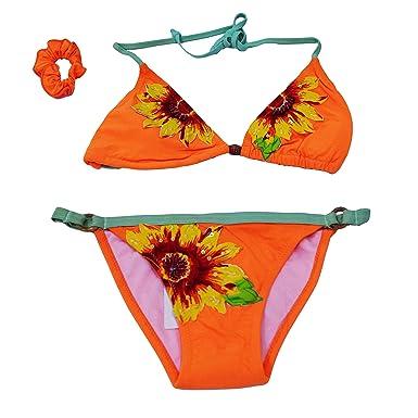 nuovi prodotti per così economico sito ufficiale takestop® Costume Bikini Triangolo Slip Cerchietto Girasole ...