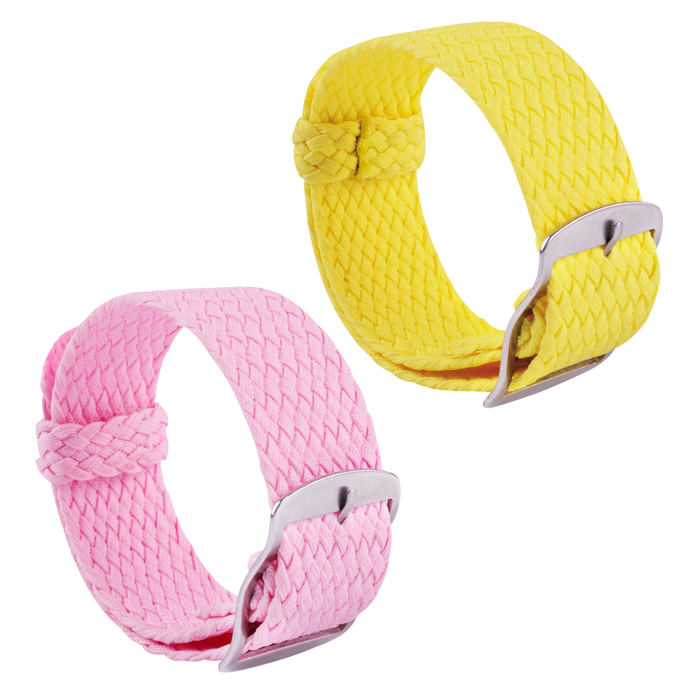 2pcs Nylon Watch Strap Perlon Braided Woven Replacement Watch Band Men Women 14mm 16mm 18mm 20mm 22mm Red by BONSTRAP (Image #1)