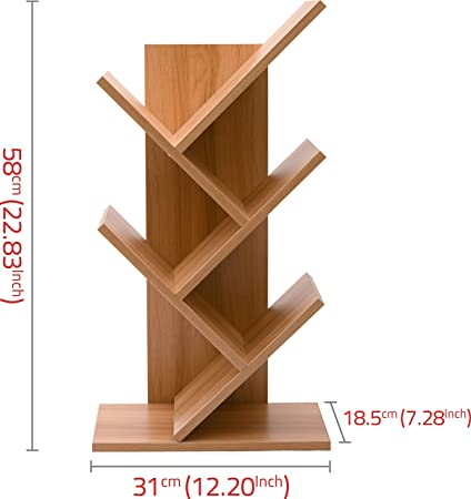 Cubix Engineered Wood Tree Shape Bookshelf Large Sapce For Book Storage Extra Power