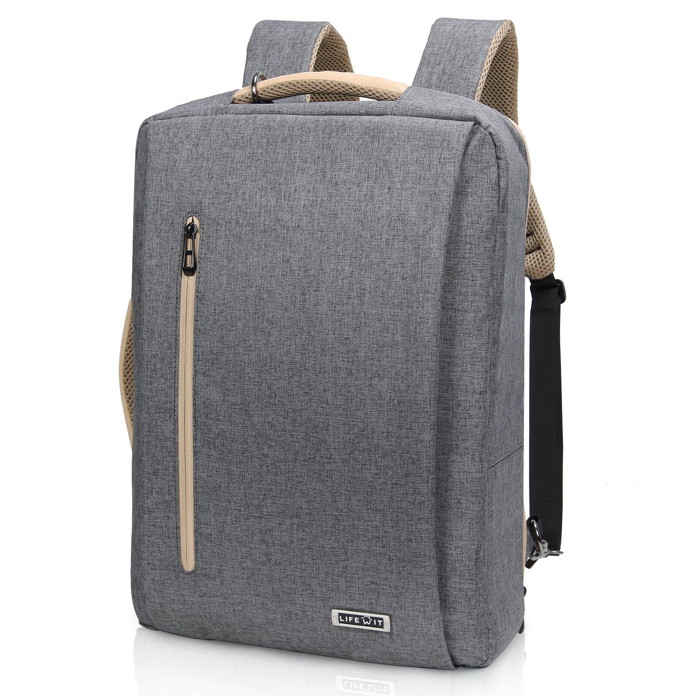 comprare popolare 5b552 2346b Dettagli su Lifewit Zaino Porta PC, Borsa per Laptop con Caricatore USB,  Borsa (17 Pollici)