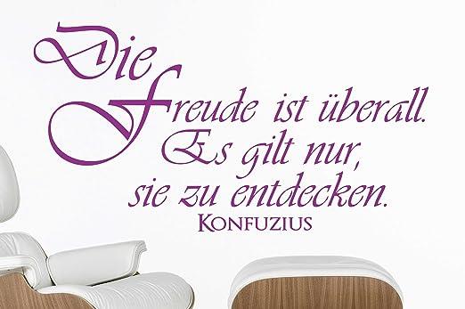 W655 (violett 58x31cm) Wandtattoo Wohnzimmer Sprüche Zitate Spruch ...