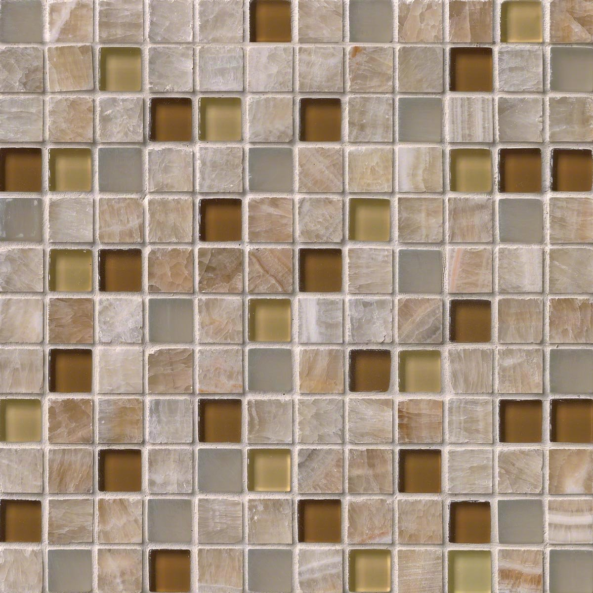 M S International Honey Onyx Caramel 12 In. X 12 In. X 8mm Glass Stone Mesh-Mounted Mosaic Tile, (10 sq. ft., 10 pieces per case)