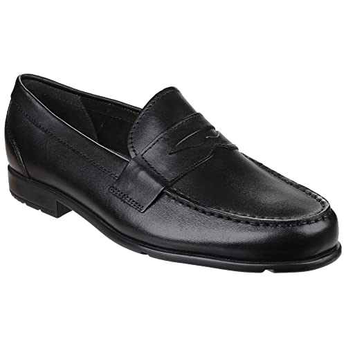d8c36b94e43 Rockport Mens Penny Classic Loafer Lite Shoes (9 UK) (Black)  Buy ...