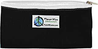 product image for Planet Wise Reusable Zipper Sandwich and Snack Bags, Snack, Black