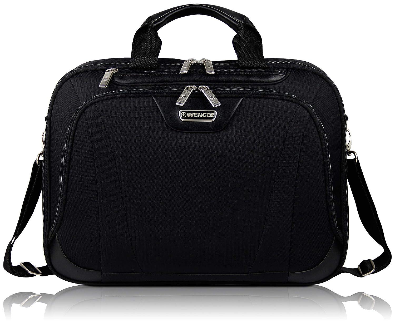 """Wenger Businesstasche mit 17"""" Laptopfach für Damen und Herren, Arbeitstasche Aktentasche Bürotasche, Schwarz"""