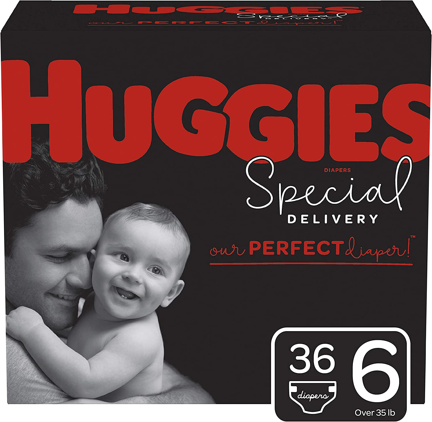 Huggies Special Delivery Hypoallergenic Baby Diapers, Size 6, 36 Ct