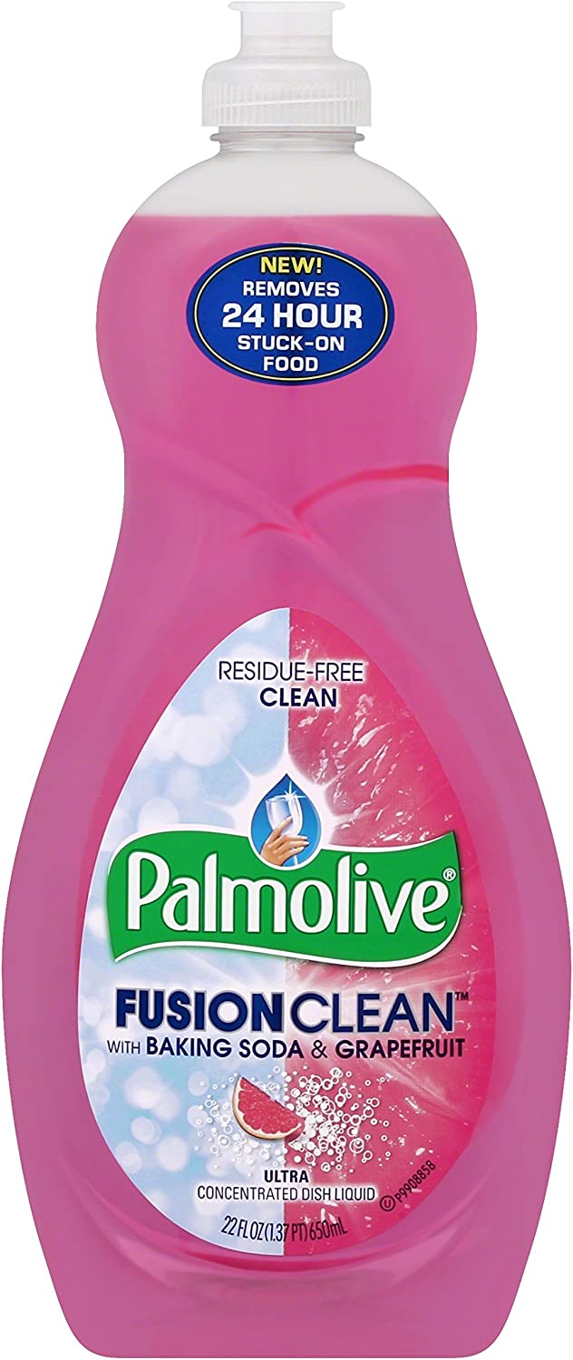Palmolive Fusion Clean Dish Liquid, Grapefruit, 22 Fluid Ounce (Pack of 12)