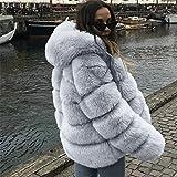 SMALLE ◕‿◕ Women's Elegant Short Faux Fur