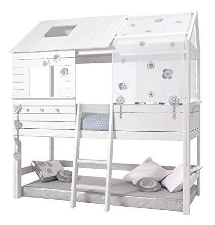 Lifetime Bed Silver Sparkle.Lifetime Original Cabin Low Silversparkle Deluxe Slatted