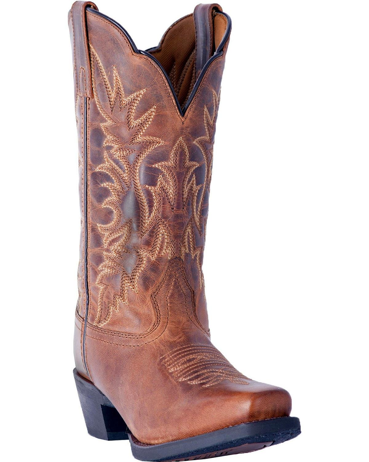Laredo Women's Malinda Cowgirl Boot Square Toe - 51134 B0785MHK2V 6.5 B(M) US|Tan