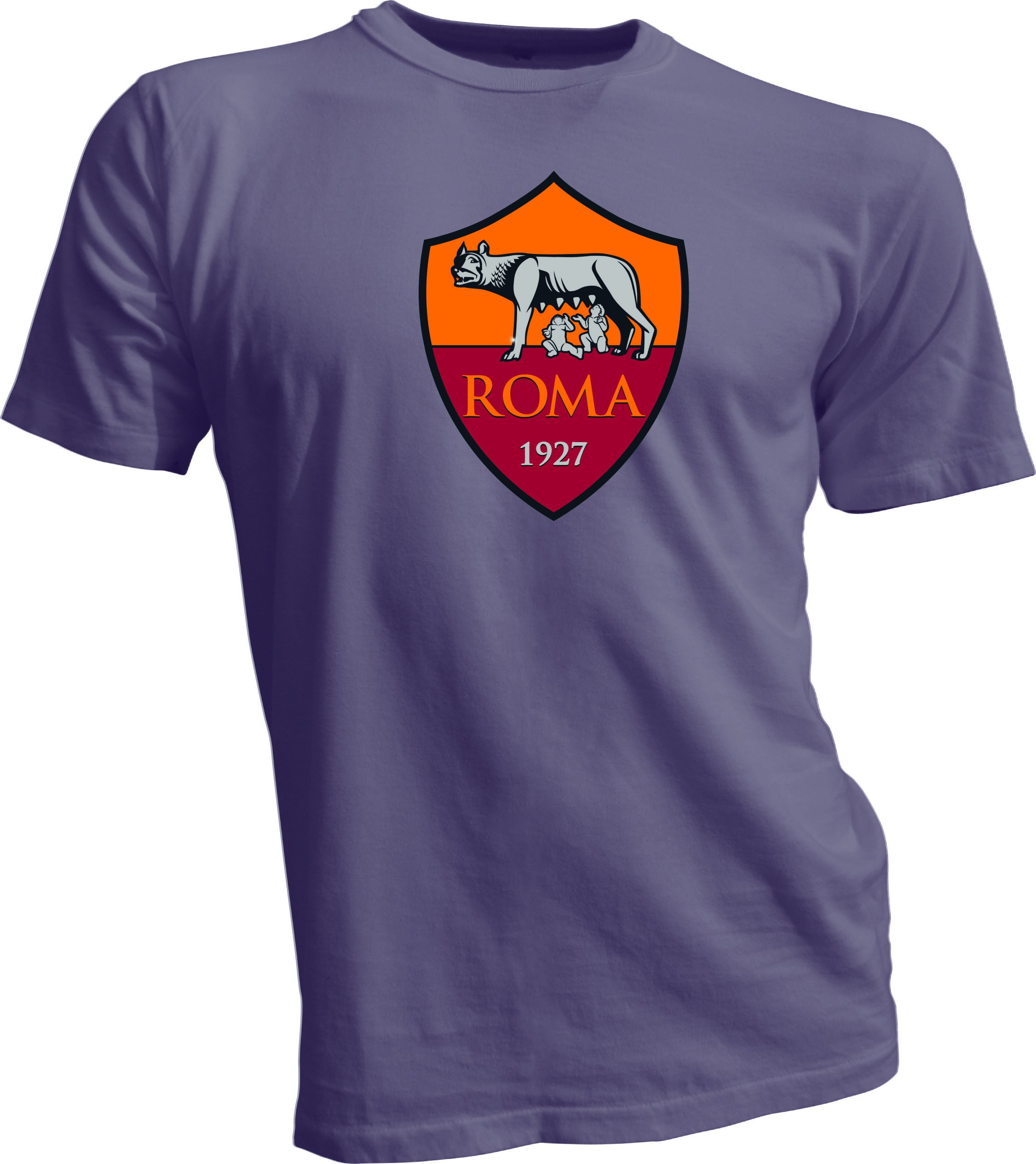 A.S. Roma Giallorossi Italy Serie A Football Soccer T-Shirt Men's Gray Large