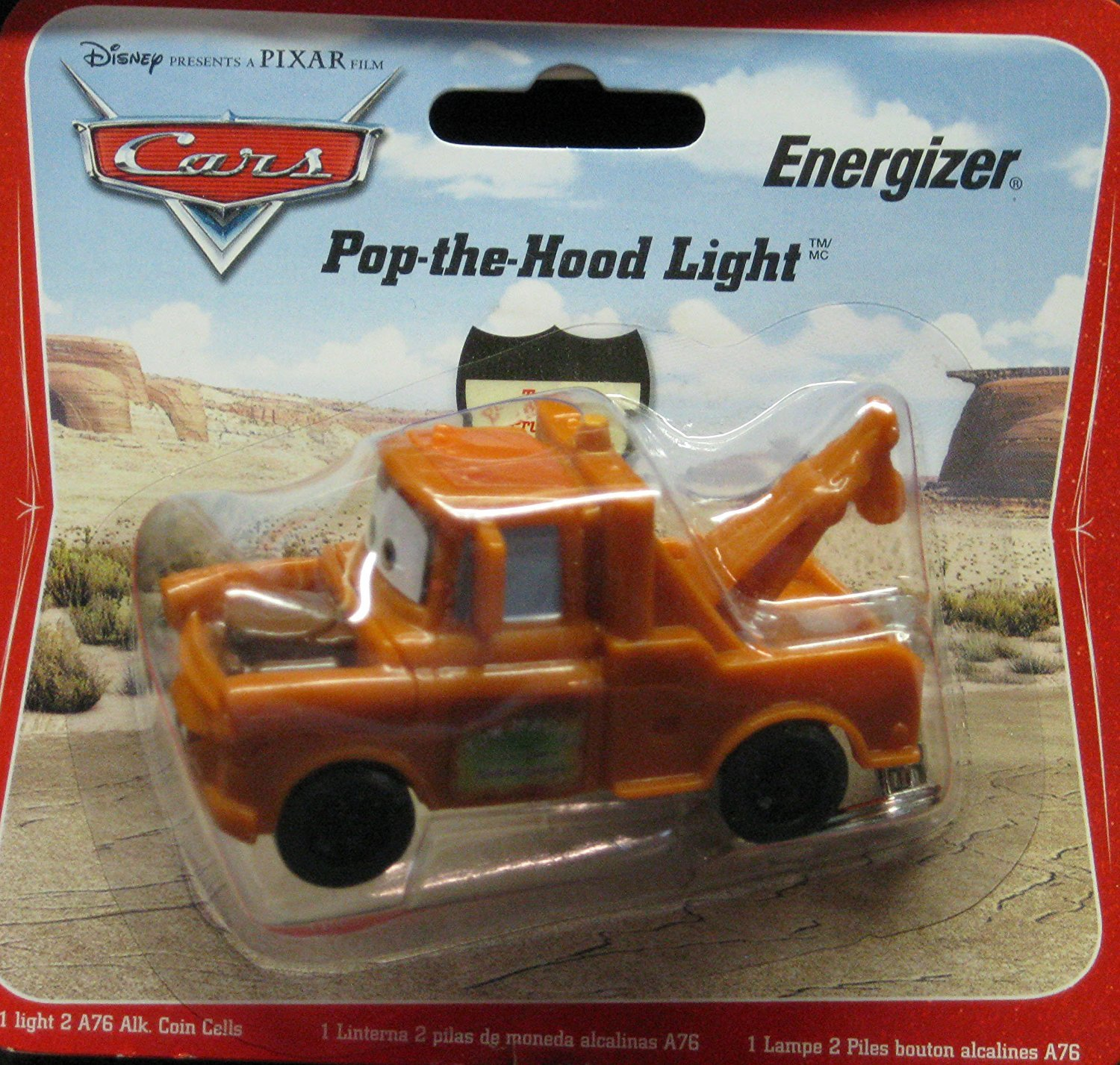 Amazon.com: Disney Cars Mater Pop la capucha luz Energizer ...