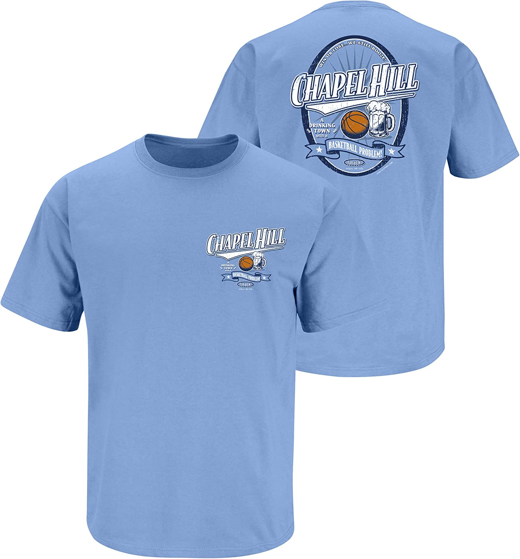 Smack Apparel North Carolina Basketball Fans Sm-5X A Drinking Town with a Basketball Problem Light Blue T-Shirt