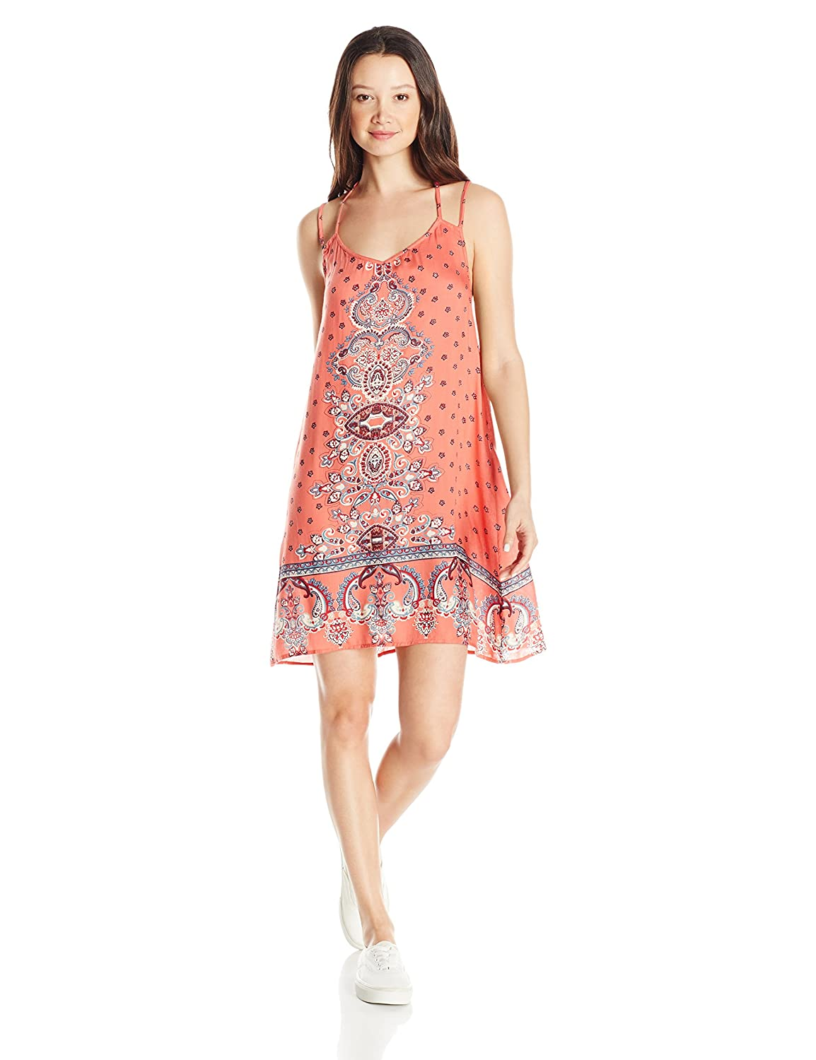 244fe97bdbf Angie Women s Double Strap Printed Sundress at Amazon Women s Clothing  store