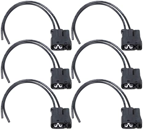 apdty 134000 ignition coil wire wiring harness connector pigtail (pack of 6