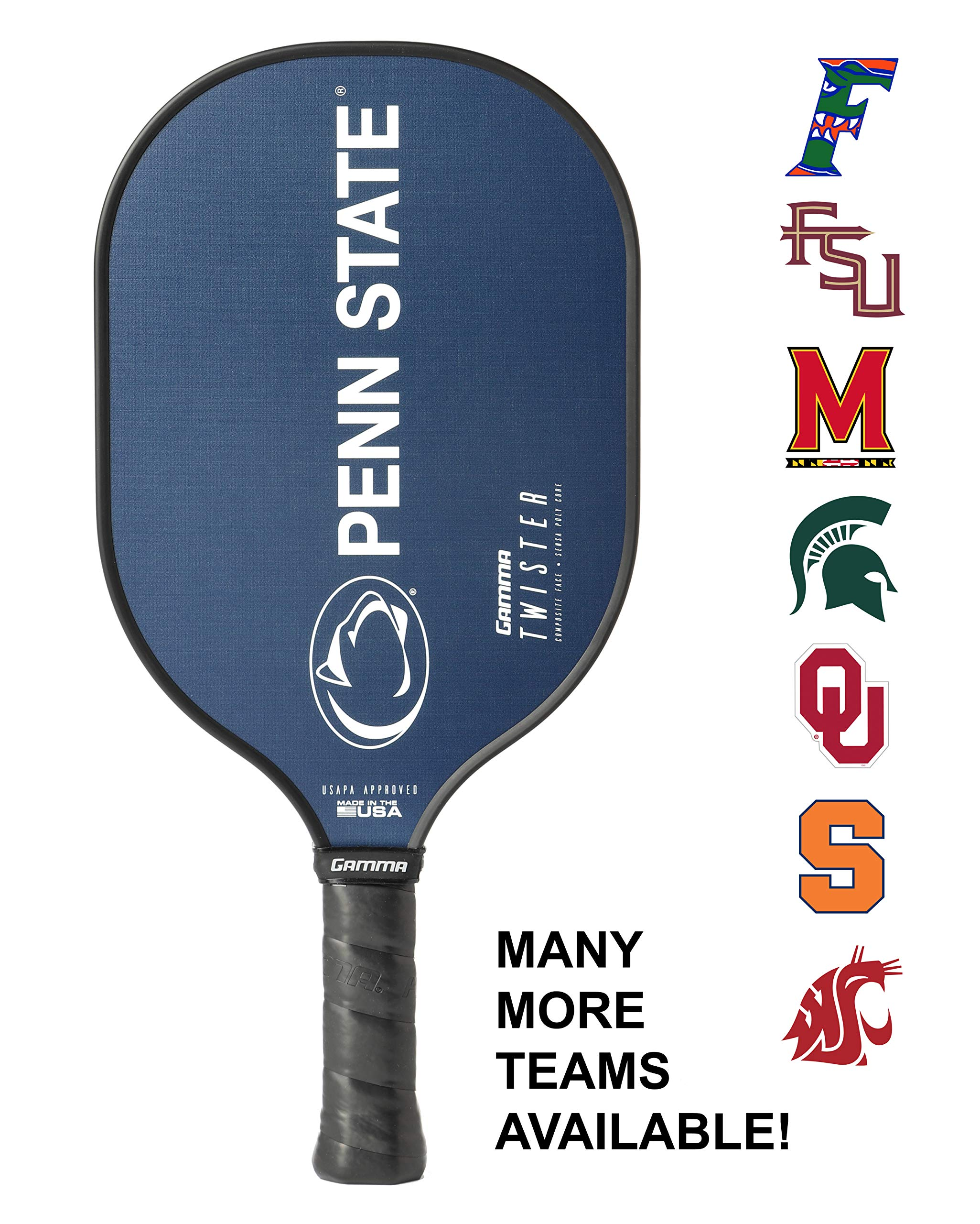 Gamma Sports Pickle Ball Paddles Twister Penn State University USAPA Approved Racquet for Adults & Kids