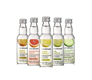 SodaStream Fruit Drops Citrus Variety Pack Drink Mixes, 1.36 fl. oz., Pack of 5, 1.36 oz
