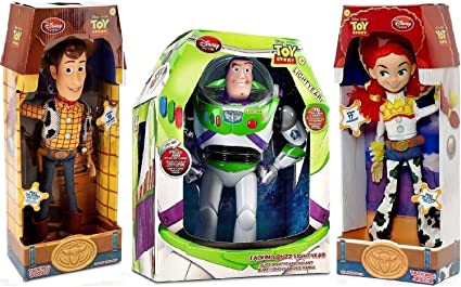 "Disney 12/"" Buzz Lightyear Woody Talking Action Figure Dolls Toy Story 4 Sounds"