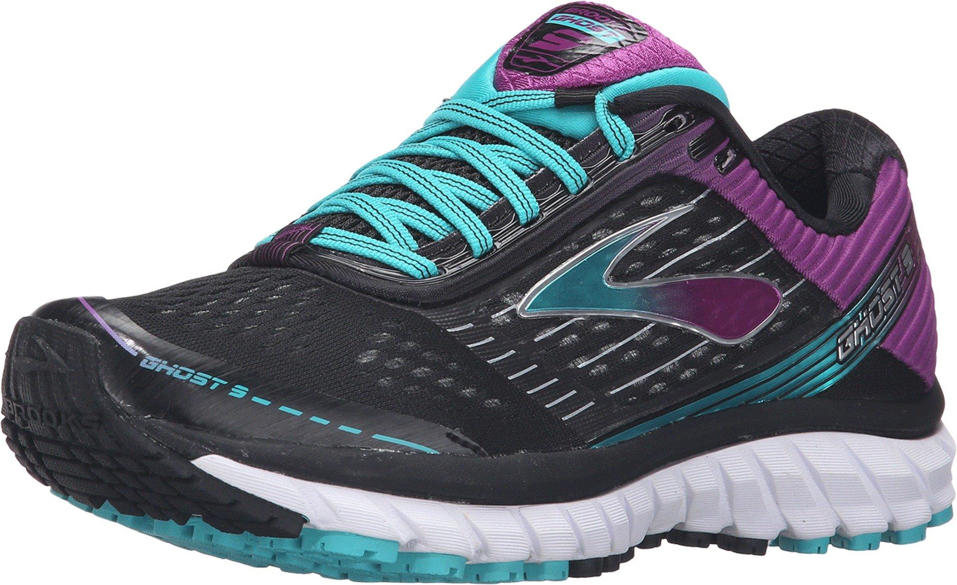 Brooks Women's Ghost 9 Black/Sparkling Grape/Ceramic Running shoes - 12 B(M) US