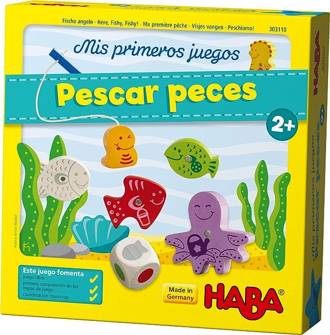 HABA Primeros Pescar Peces-ESP (303110), emocionante Pesca con Figuras Colores, Juego Educativo y Juguetes de Madera, a Partir de 2 años: Amazon.es: Juguetes y juegos