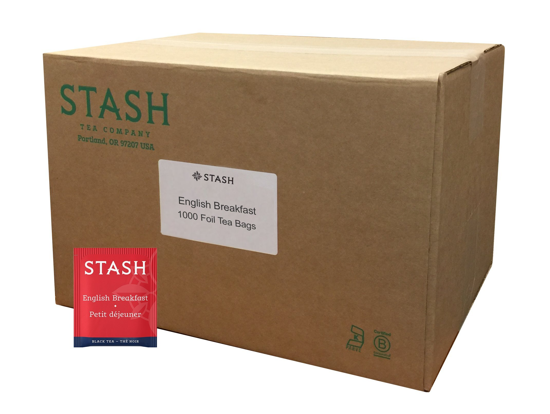 Stash Tea English Breakfast Black Tea 1000 Count Box of Tea Bags in Foil by Stash Tea