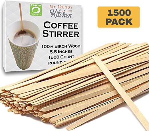 100 ct Coffee Stirrer Wood Sticks Disposable