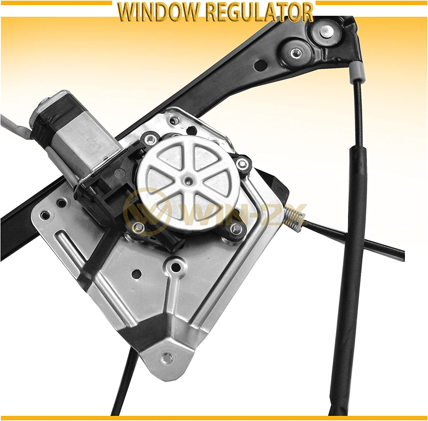 WIN-2X New 1pc Front Passenger Right Side Power Window Regulator With Motor Assembly Fit 01-05 Pontiac Aztek 02-07 Buick Rendezvous
