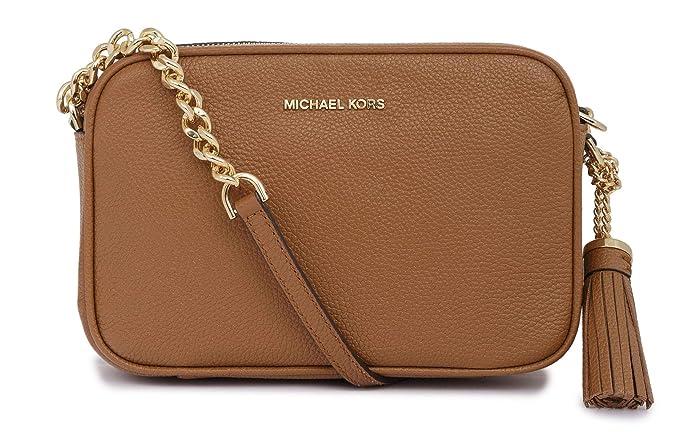 Michael Kors Leather Tan One Size: Amazon.co.uk: Clothing