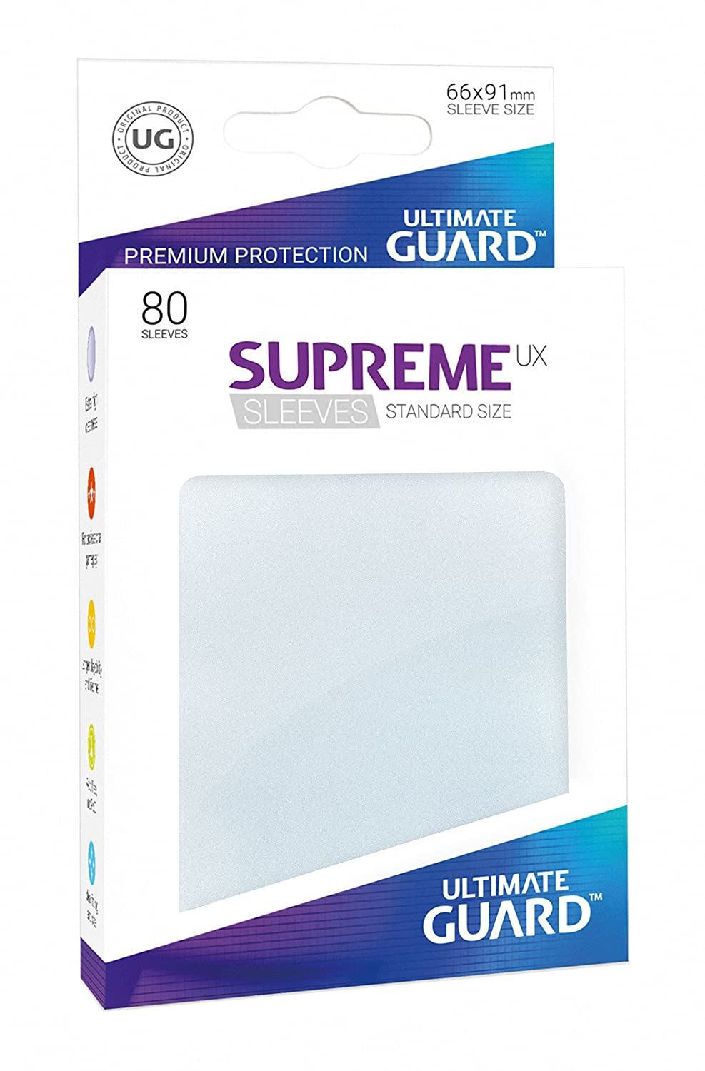 Ultimate Guard SUPREME UX STANDARD Size Card Sleeves 80 FROSTED