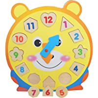 Playgro - Wooden Clock - Shapes Sorter Clock - 1 to 12 Time - Activity & Learning - Educational Toy
