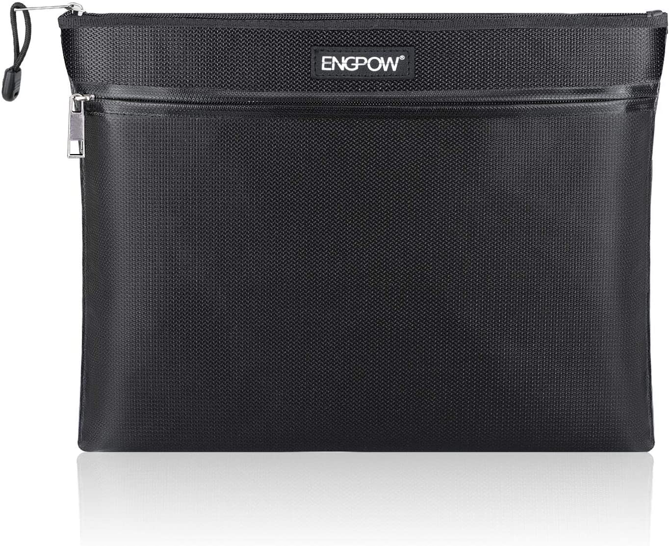 """ENGPOW Fireproof Document Bags 15/"""" x 11/"""" Two Pockets Two Zippers Fire and Wat..."""