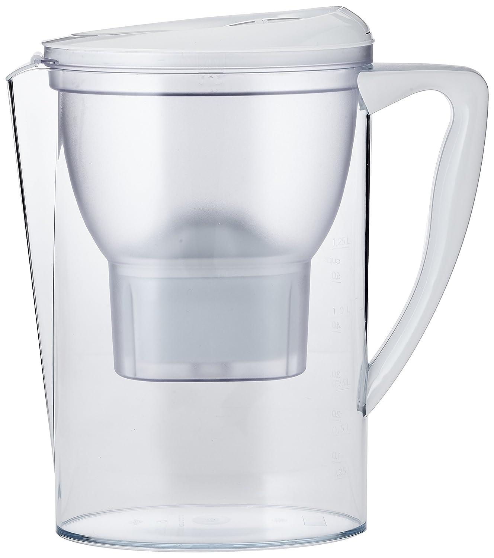 AmazonBasics - Caraffa filtrante per l'acqua, 2.3 L - Bianco AMWTFLT2_3B