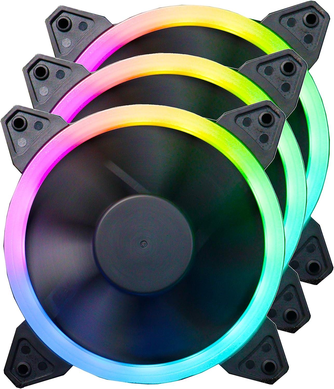 ionz RGB Ventilateur pour PC 120 mm HALO RGB 4 broches Haute