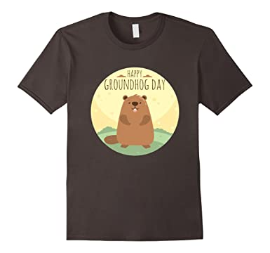 Amazon.com: Happy Groundhog Day T-Shirt for Men, Women and Kids ...
