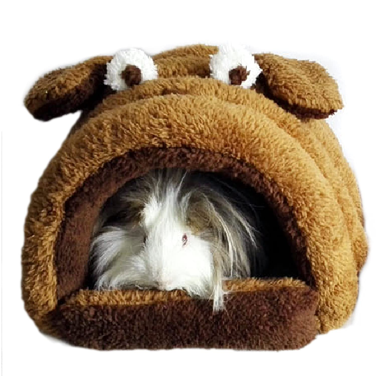 Brown Alfie Pet Tobin Sleeping Cave Bed for Small Animals Like Dwarf Hamster and Mouse color  Brown