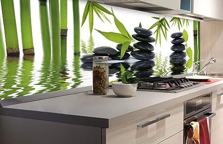 Zelfklevende Keuken Achterwand Zen Stenen 180 X 60 Cm Zelfklevende Spatwand Keukenfolie Waterbestendige Folie Voor De Keuken Premium Kwaliteit Gemaakt In De Eu Amazon Nl