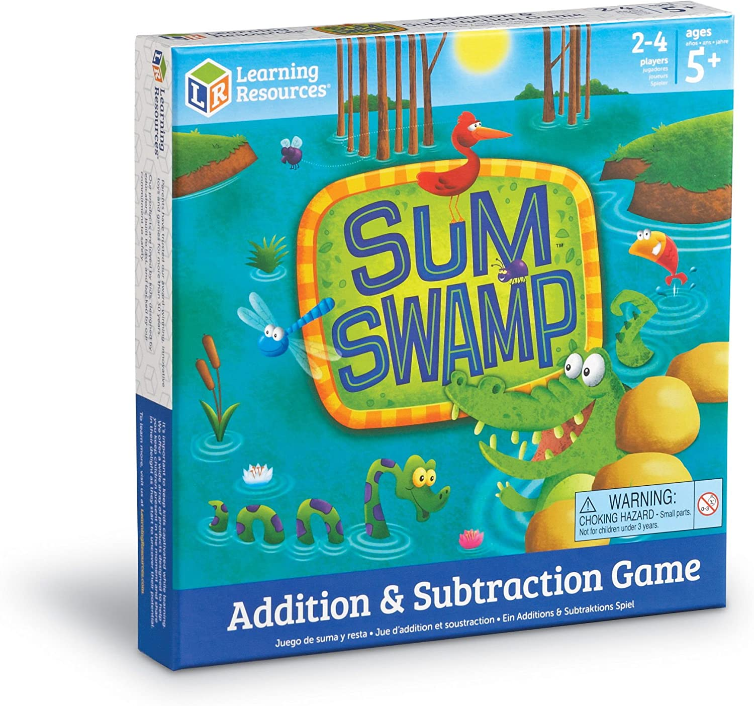 B00004TDLD Learning Resources Sum Swamp Game, Addition/Subtraction, Early Math Skills, 8 Pieces, Ages 5+ 81kjXLLlB1L