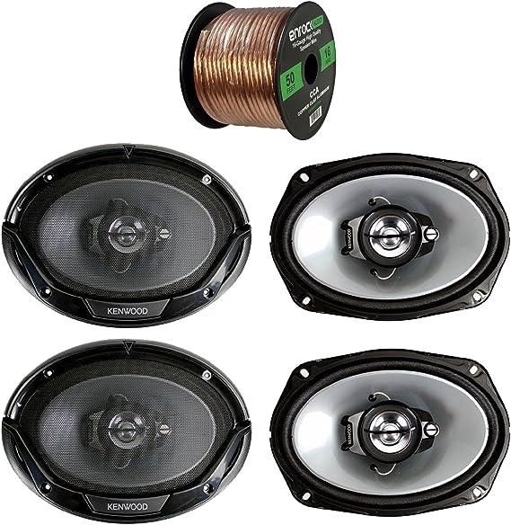 """2 Pairs Kenwood KFC-6965S 6x9/"""" 800 Watt 3-Way Coaxial Speakers 4 Speakers"""