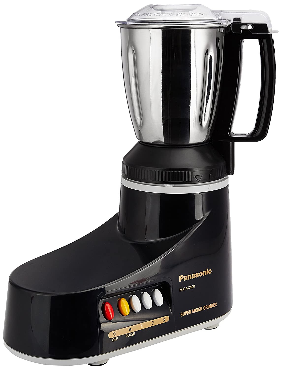 Panasonic MX-AC400 550-Watt 4-Jar Super Mixer Grinder (Color May Vary White Or Black)