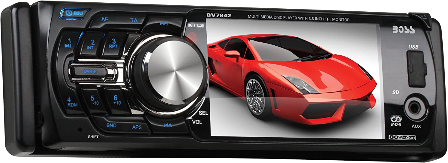 [DIAGRAM_3US]  Amazon.com: BOSS Audio Systems BV7942 In-Dash Single-Din 3.6-Inch  Detachable Screen DVD CD USB SD MP4 MP3 Player Receiver with Remote -  Discontinued by Manufacturer: Car Electronics | Boss Bv7942 Wiring Harness |  | Amazon.com