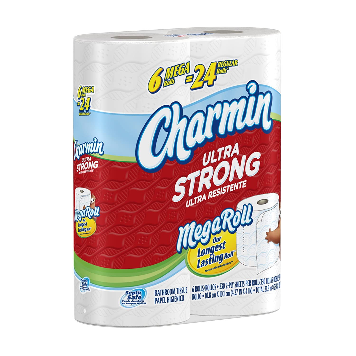 Amazon Charmin Ultra Strong Toilet Paper 6 Mega Rolls Pack Of 3 18 Total Health Personal Care