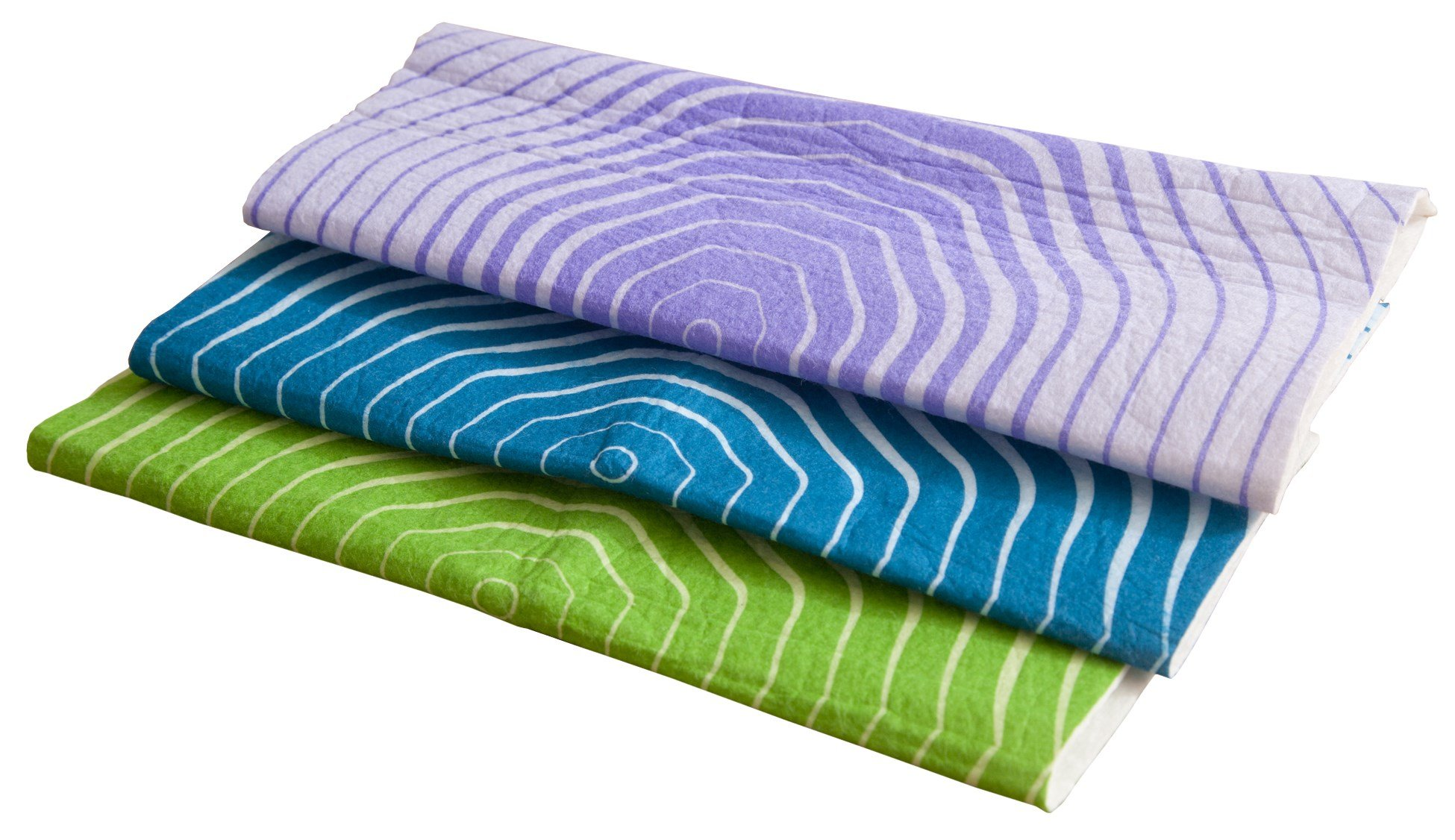 Full Circle Pulp Friction Wood Fiber Absorbent Cleaning Cloths, Set of 3