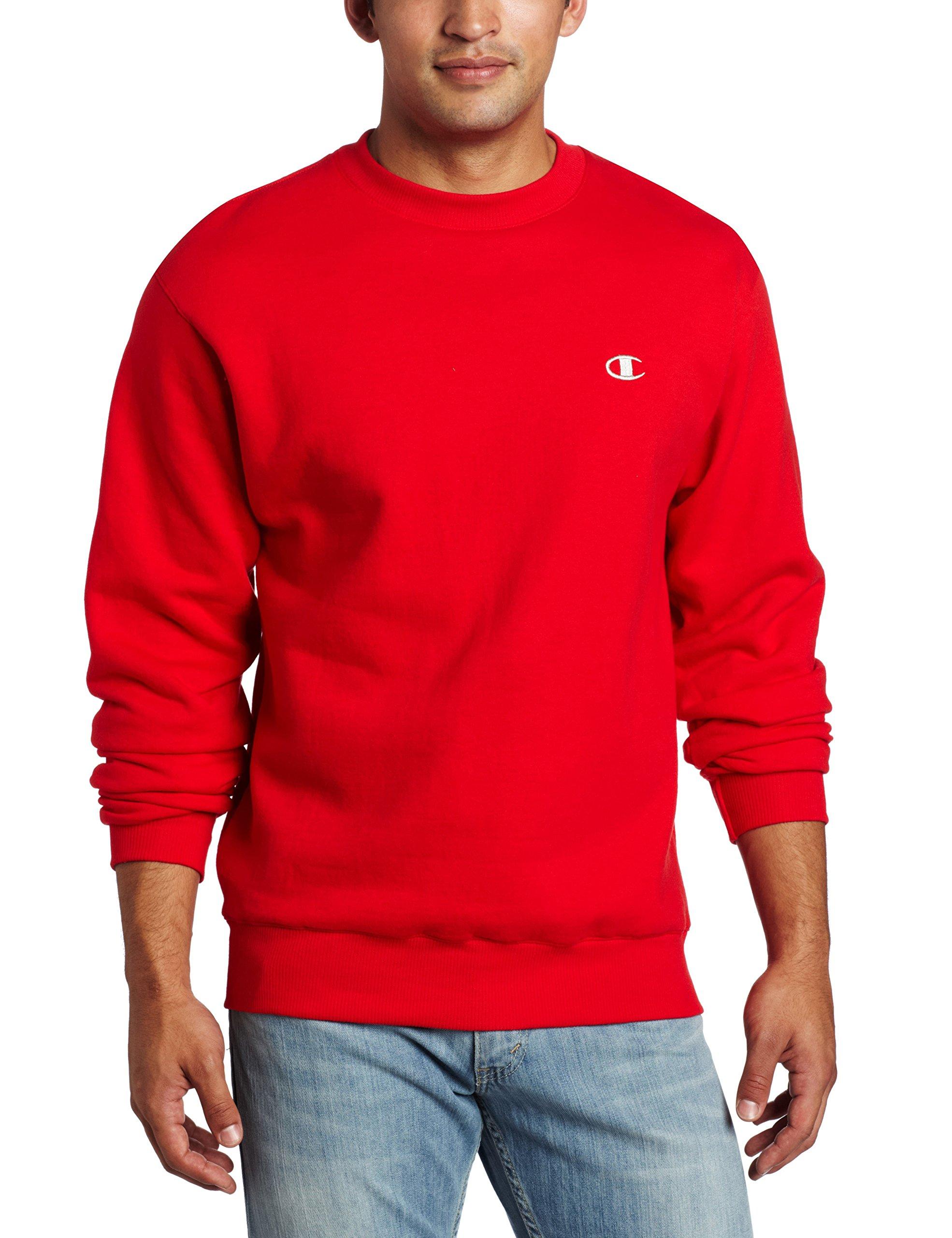Champion Men's Pullover Eco Fleece Sweatshirt, Crimson, X-Large